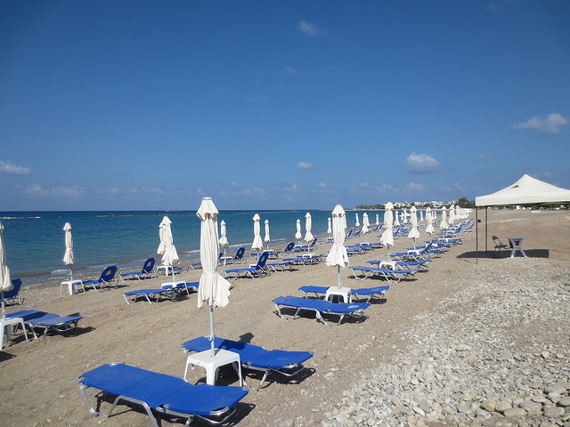 Geroskipou strandja